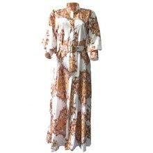 Vestidos africanos para as mulheres primavera outono vestido de camisa longa dashiki vestidos maxi elegante manga longa plus size