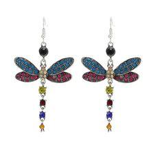 Женские модные украшения индивидуальные серьги со стрекозой
