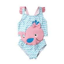 Летние Детские купальники модная пляжная одежда для девочек