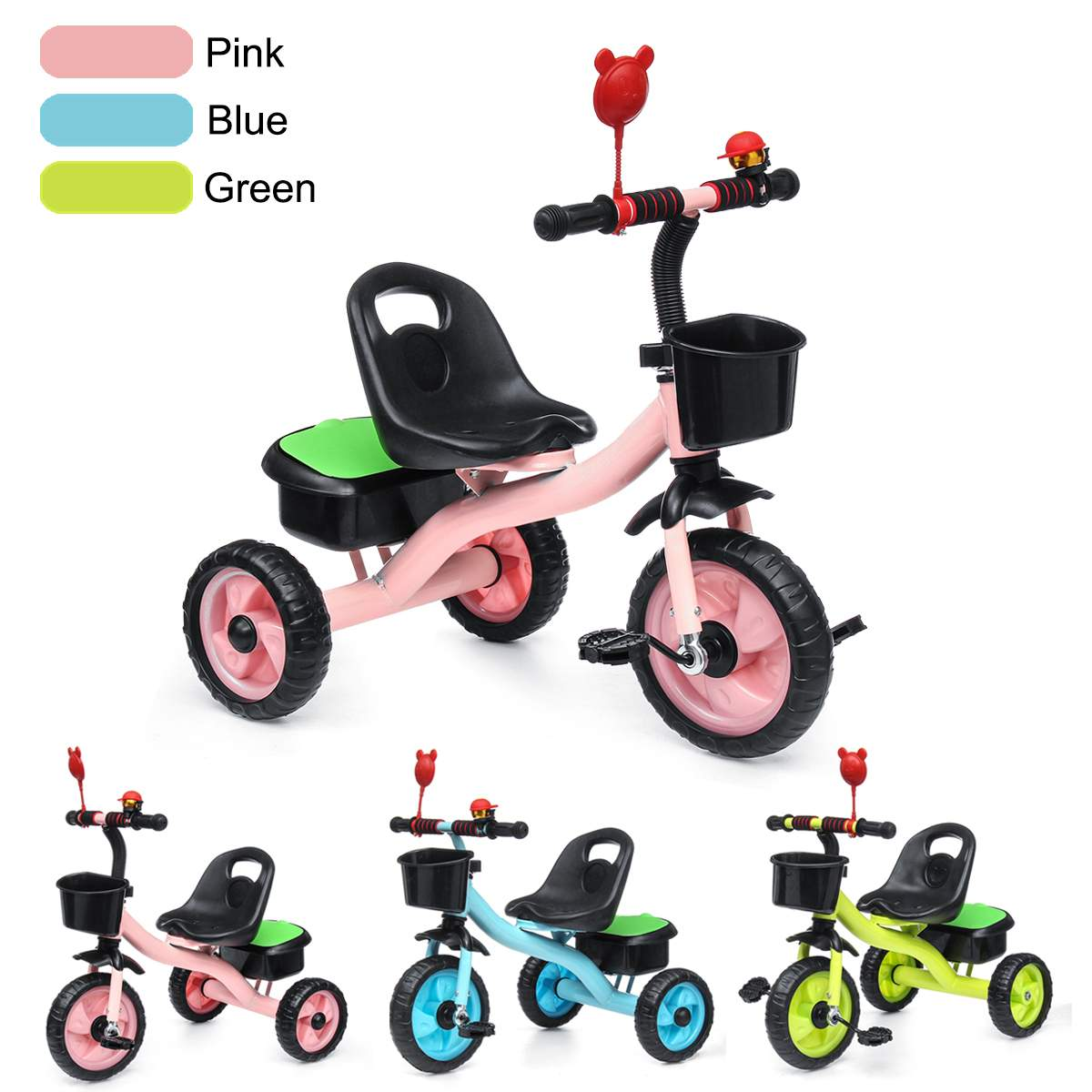 Kids Children Child Tricycle Bicycle 3 Wheel  Kindergarten Kids Ride On Bike Toddler Trike For 2-6 Years Old Kid