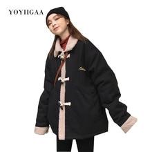 Oversize Women Jacket Coats Warm Thick Cotton Female Jackets Turn-down Collar Coat Autumn Winter Woman Jacket Women Clothing