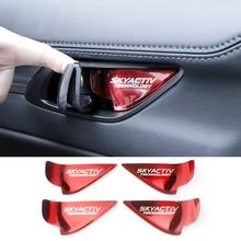 Araba iç kapı kolu kase ayar kapağı etiket Mazda 2 3 6 Demio CX3 CX 5 CX5 CX 5 CX7 CX9 MX5 Axela ATENZA 2017 2018 2019
