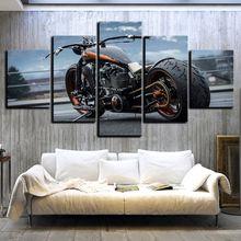 Картина на холсте настенный плакат 5 шт ретро мотоцикл картина