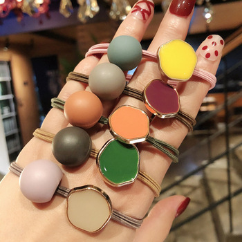 2020 New Korea Women Hair Ropes Big Crystal Pearl Elastic Rubber Band for Girl Fashion Hair Accessories Hair Ties Wholesale 5