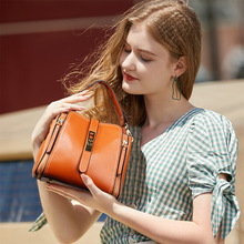 YOUSE Ladies 2020 bag Leather bag Wild First layer leather Casual Fashion Shoulder messenger bag Bucket bag portable Female bag aetoo new female leather baby first layer of leather ladies shoulder bag handbag fashion messenger bag female