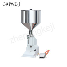 A02 Pneumatic filling Paste Cosmetics Semi-automatic filling Machine Vertical Small Oil Drinks china products best prices small filling machine for liquid semi automatic bottle filling machine water filling machine