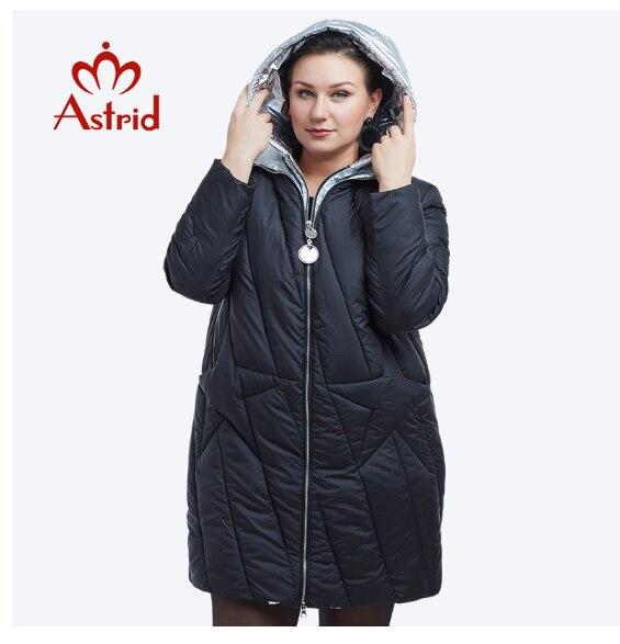 New 2018 Winter Jacket Women Fashion Design Golden Hooded Winter Jacket Women Warm Long  FR-5076