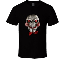 Jigsaw Saw Horror Thriller Movie Retro T Shirt Mens Tee Fan Gift New From US scream ghostface sidney prescott horror thriller movie mens black t shirt s 3xl