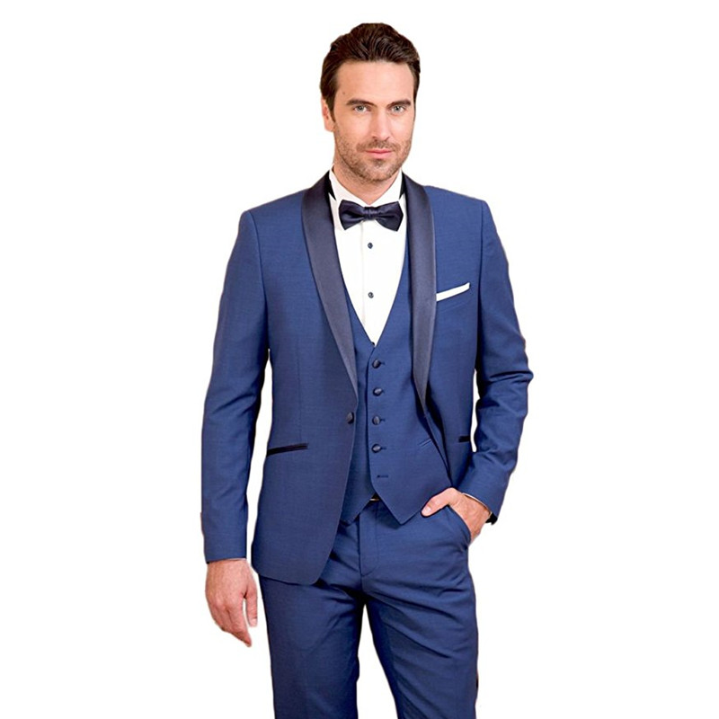 Custom Made  Men Suits Men's 3 Piece Suit Business Formal 3 Piece Slim Fit Wedding Groom Tuxedos (Jacket+Pants+Vest) G505