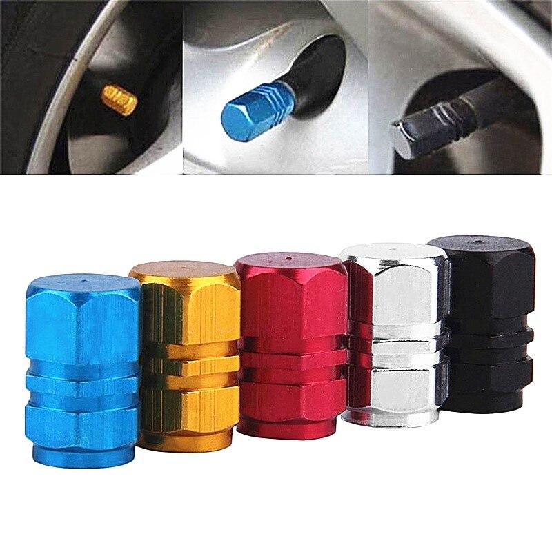 4PCS Lot Car Tire Valve Stem Caps Bolt-in Aluminum Theftproof Valve Caps Car Wheel Tires Valves Tyre Stem Air Caps