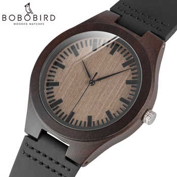 BOBO BIRD Cheap Watch Men Quartz Wooden WristWatches masculinos relogios in Gift Box custom logo - DISCOUNT ITEM  30% OFF All Category