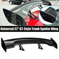 Universal cauda do carro tronco traseiro spoiler 145cm estilo fibra de carbono gt asa para bmw para mazda para hyundai para audi estilo do carro|Spoilers e aerofólios|Automóveis e motos -