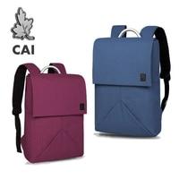 CAI Couple Backpack School Bag For Teenage Girl Boy Laptop Business Travel 2019 Fashion bags Waterproof Minimalism Bookbag
