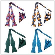 GHL1-20 silk Butterfly Business Self Tie bowtie men vintage Paisley Stripe Dots