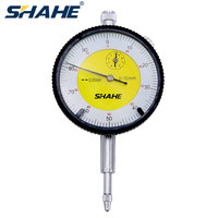 Shahe 0.01mm 0-10mm dial indicador medidor de precisão dial indicador de medição de resolução instrumento indicador de discagem calibre