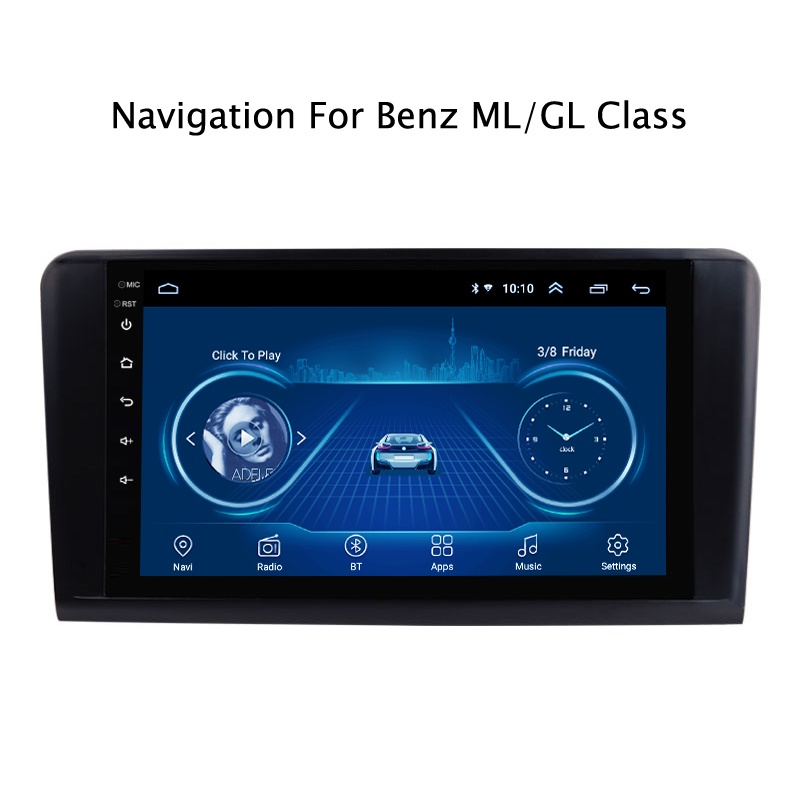 Android 9.1 super slim GPS Navigation For BENZ <font><b>ML</b></font> 320 <font><b>350</b></font> <font><b>W164</b></font> GL350 GL400 GL450 X164 car radio player Multimedia Wifi head unit image