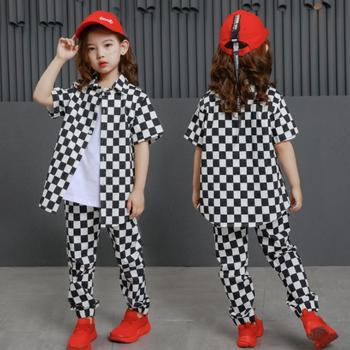 Girls Plaid Outfit Korean Kids Short Sleeve Shirt And Pant Two Piece Set Clothes For Teenagers Girls 12 13 To 14 15 16 Years