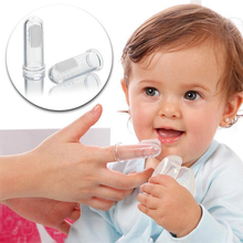 Baby Finger Toothbrush With Box Soft Silicone Teeth Clear Massage Children Infant Rubber Cleaning Brush Set