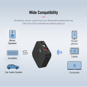 Image 4 - KEBIDU NFC Bluetooth 5.0 Receiver NFC 3.5mm AUX 2RCA Jack Hifi Wireless Adapter 3.5 Audio Receiver Auto On/OFF Bluetooth Adapter