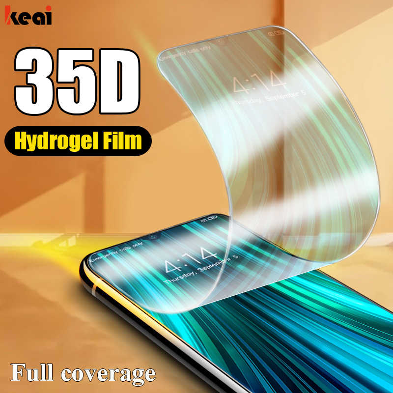 35D Full Cover Hydrogel Film For Xiaomi Redmi Note 5 6 10 7 8T 8 Pro Screen Protector For Redmi 9T 8A 7A 6A Soft Film Not Glass
