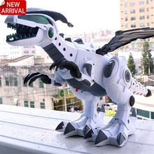 Toys Robot Spray Animal-Model Dinosaurs Intelligent Walking-Swing Electronic Children