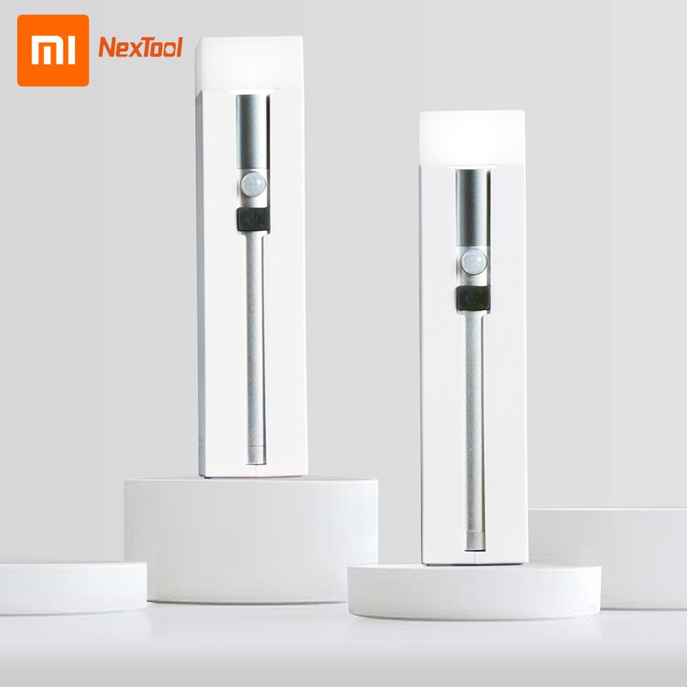 Xiaomi NexTool Multifunction Flashlight Rechargable Power Bank Electric Torch Body Induction Emergency Lamp Night Light