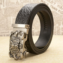 Fashion Brand Genuine Leather Belt Business Trouser Strap Pant Ceinture Homme Cowskin Dragon Automatic Buckle Cowhide Men Belts