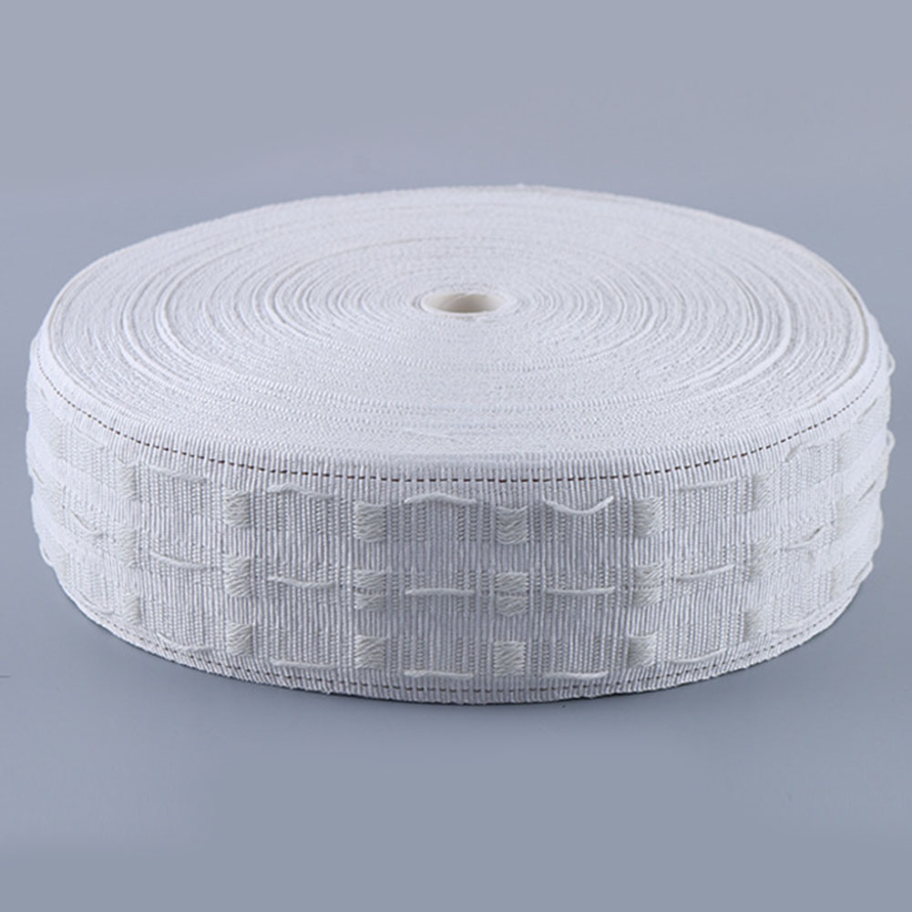 10M Pull Belt Curtain Ring Curtain Cloth Pleat Tape Eyelets Punching Hook