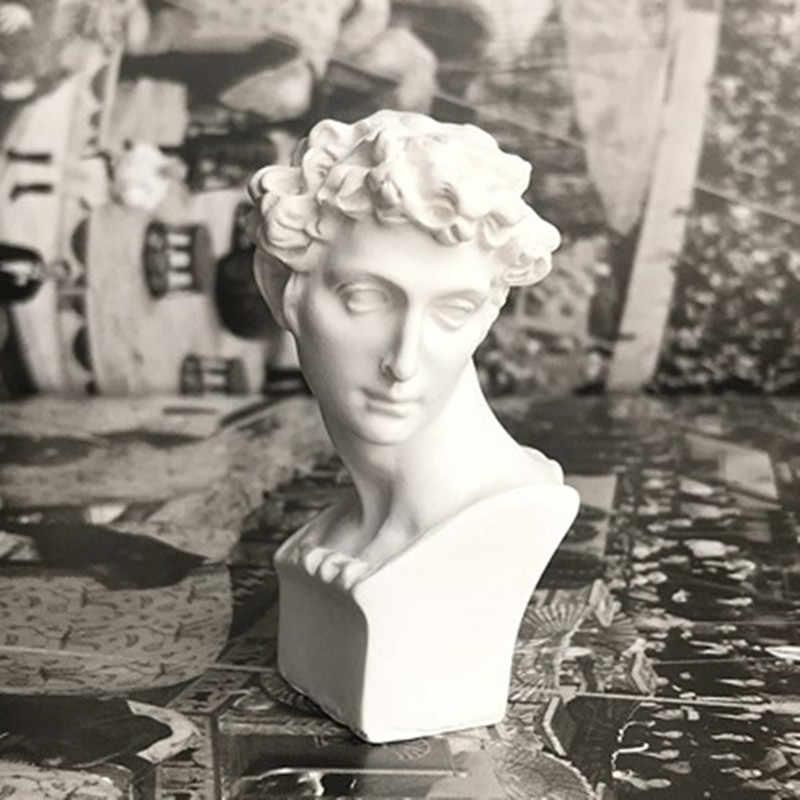 יווני מיתולוגיה דוד גבס ראש דיוקנאות רנסנס פסל קו ציור עזרי הוראת אמנות חומר שרף קישוטי M2795