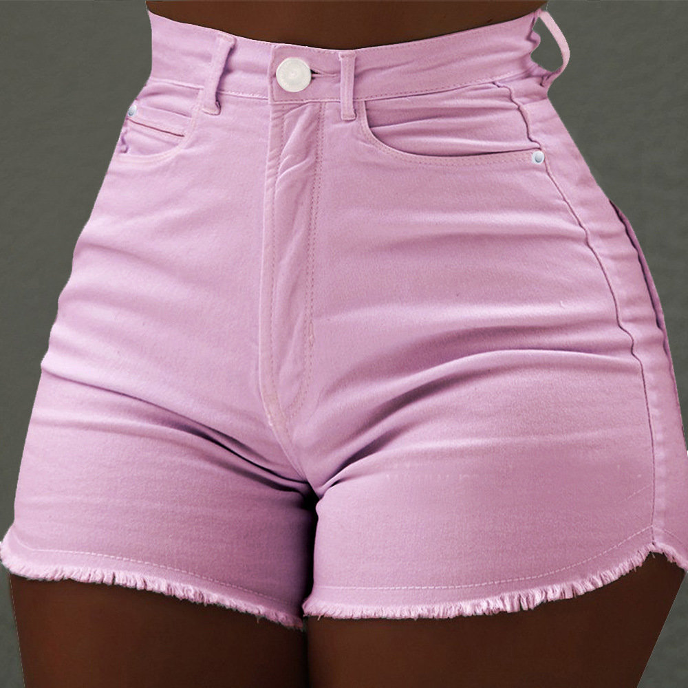 Hca4c2bf4fc474ea6aa30c4c6b8fb44a90 - High Waist Denim Shorts Sexy Tassel Short Jeans Women Summer Ladies Slim Shorts Short Pants Casual Jeans