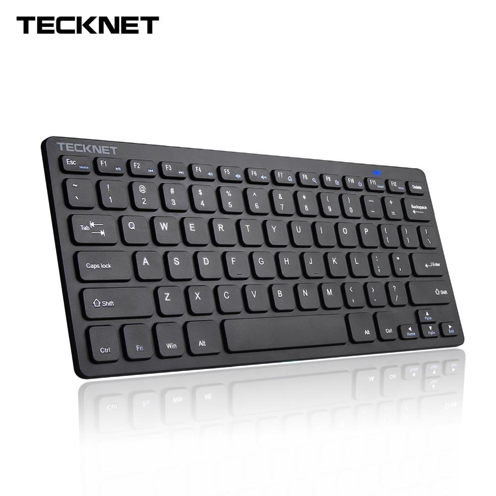 (US Keyboard Layout) Ultra Slim 2.4GHz USB Wireless Keyboard With Hot Keys Design For Android Smart TV Windows 10 8 7 XP Vista