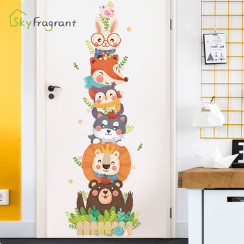 Creative Cute Cartoon Wall Sticker Baby Bedroom Wall Decor Home Decor Stickers Kids Room Decoration Door Stickers Self Adhesive Leather Bag