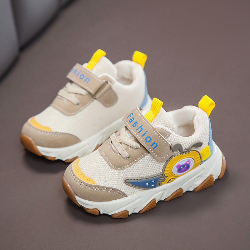 Girls 'shoes  children's mid toe white shoes  breathable boys' sports shoes  student casual children's shoes Walking Shoes     - title=