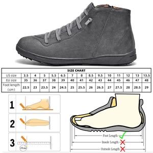 Image 5 - 2020 חדש גברים מגפי עור קרסול מגפי נשים גבוהה באיכות PU מדבר מגפי זוגות מוך גברים סניקרס נעליים יומיומיות Dropshipping