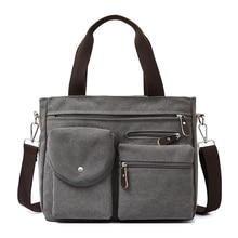 цены Multi Functional Men Canvas Bag Canvas Travel Bag Men Shoulder Crossbody Bag Large Capacity Handbag Male Casual Handbags Canvas