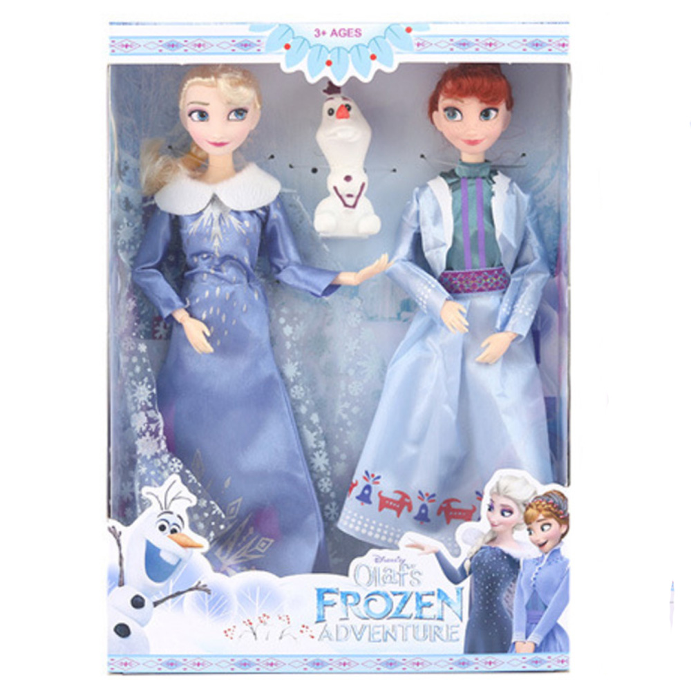 Disney Anime Frozen 2 Elsa Anna Toys 30cm Frozen 12 Joint Movable Figure Olaf Dolls Birthday Gifts Toys For Children Girl