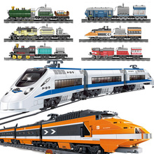 Electric motor rc car Train sets power function Remote Control Rail Building Blocks kid toy compatible legoinged technic toy for
