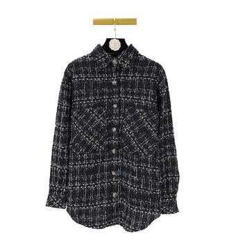 Owen Seak Men Casual Shirts Coat Gothic Style Men's Clothing Plaid Autumn Women Shirts