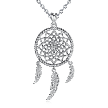925 Sterling Silver Dreamcatcher Pendant Necklace