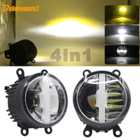 30W Car LED Light Assembly Fog Lamp Headlight High Beam Low Beam DRL With Harness Wire H11 12V For 2002 2008 Peugeot 307