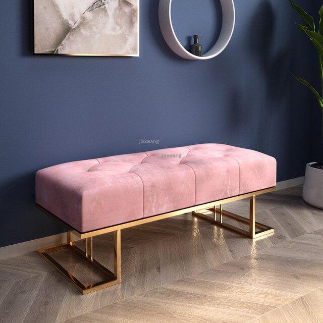 Light Luxury  Sofa Long Bench 2