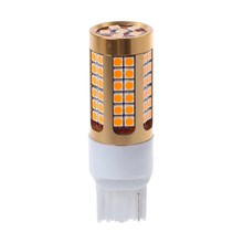 1 PC 7440 T20 3030 78SMD CANBUS Mobil LED Sinyal Giliran Light Bulb Amber Kuning LX9C(China)