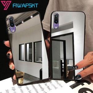 Full Mirror Case For Huawei P30 P20 lite P Smart Z 2019 Nova 3 3i Honor 8A 8S 8X 8C 10 10i 20 20s 9X Bling TPU Silicone Cover(China)
