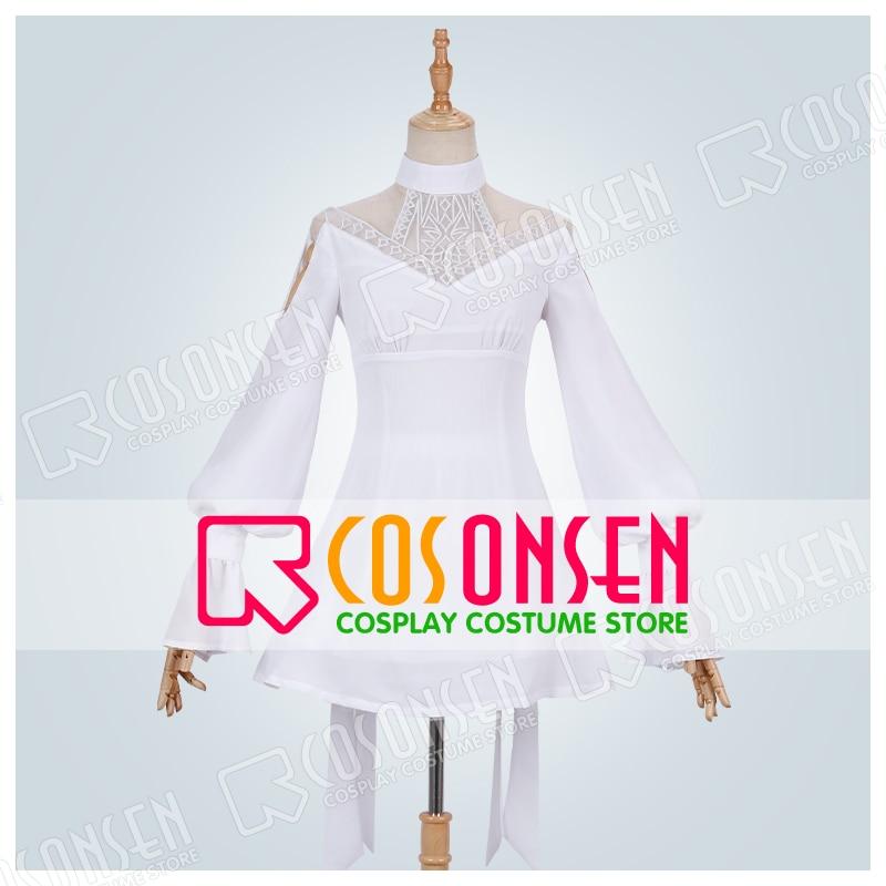 FF14 Ryne Cosplay Minfilia White Dress Woman Dress Customized Size
