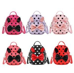 Image 5 - Sacs décole pour filles, sacs décole avec nœud papillon dessin animé mignon, sac à dos décole pour bébés