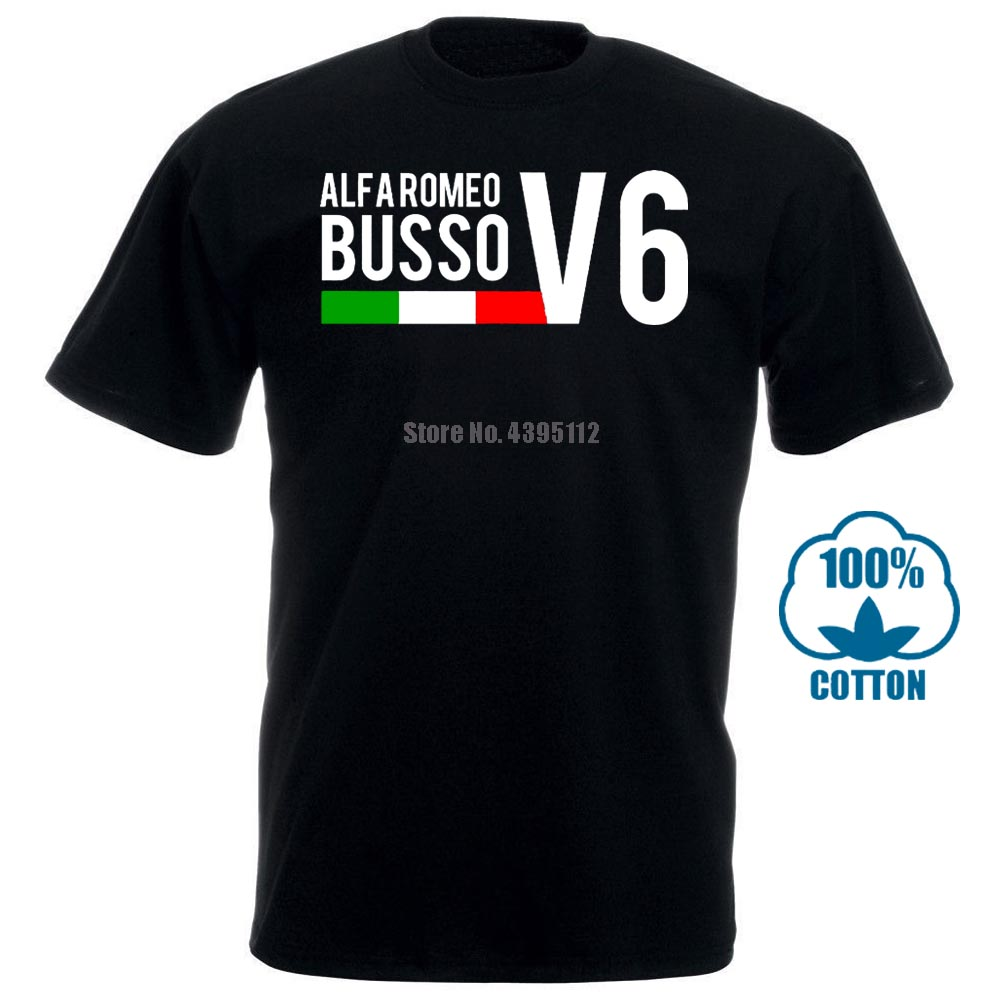 Men T Shirt Alfa Romeo Busso V6 156 Gtv 164 155 Gta Car Motoring Racer Inspired Dad T Shirt Tshirt Women