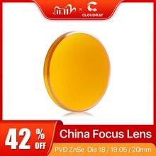 """Cloudray Китай CO2 ZnSe фокусная линза Dia.18 19,05 20 мм FL38.1 50,8 63,5 101,6 127 мм 1,5 4 """"для лазерной гравировки резки"""