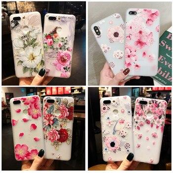 Перейти на Алиэкспресс и купить 3D Рельефный цветочный чехол для телефона Samsung GALAXY A10 A20 A30 A40 A50 A60 A70 A80 A90 M 10 20 30 40 A40S S8 S9Plus, чехол для девочки
