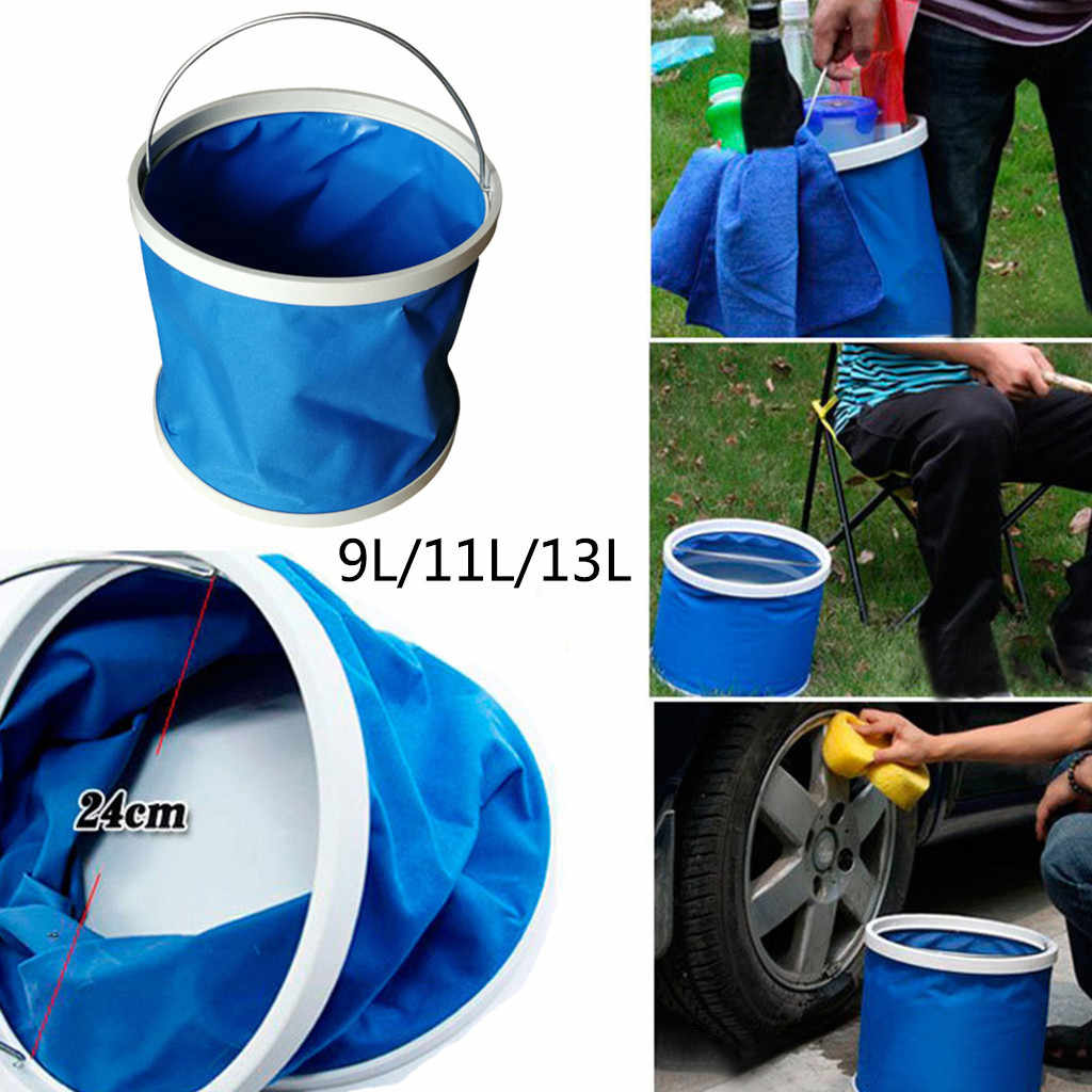Waterproof Folding Bucket Is Convenient Environmentally Friendly Wear folding bucket Resistant kamp malzemeleri