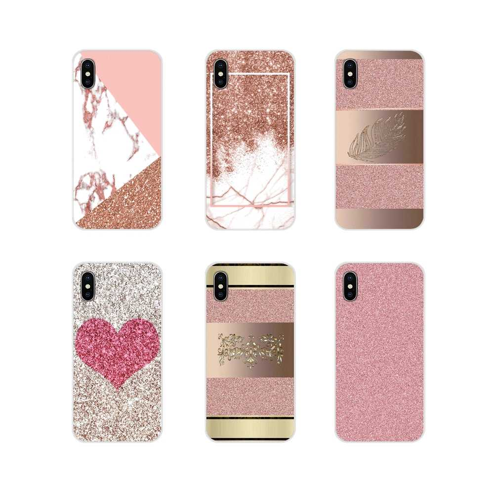 Zachte Transparante Shell Cover Voor Xiao mi mi 4 mi 5 mi 5 s mi 6 mi A1 A2 5X6X8 9 Lite SE Pro mi max Mi x 2 3 2 s goud ROZE Roos Glitter